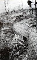 山端庸介「破壊された市電と死者」1945年8月10日 山端祥吾蔵 日本写真保存センター