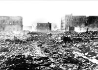 岸田貢宜「被爆翌日の市内」1945年8月7日 岸田哲平 蔵