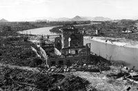 林重男「被爆後パノラマ」1945年10月上旬 広島平和記念資料館提供
