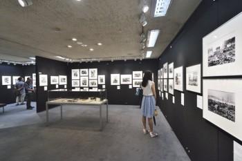 写真展「知っていますか…ヒロシマ・ナガサキの原子爆弾」展示会場内
