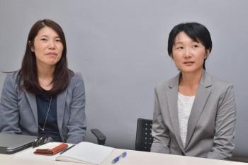 サンディスク株式会社 長谷川史子氏(左)、羽田野恵美氏(右)