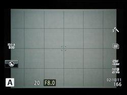 ハイレゾショットを設定すると、モニター画面の右端中央にアイコンで表示される。